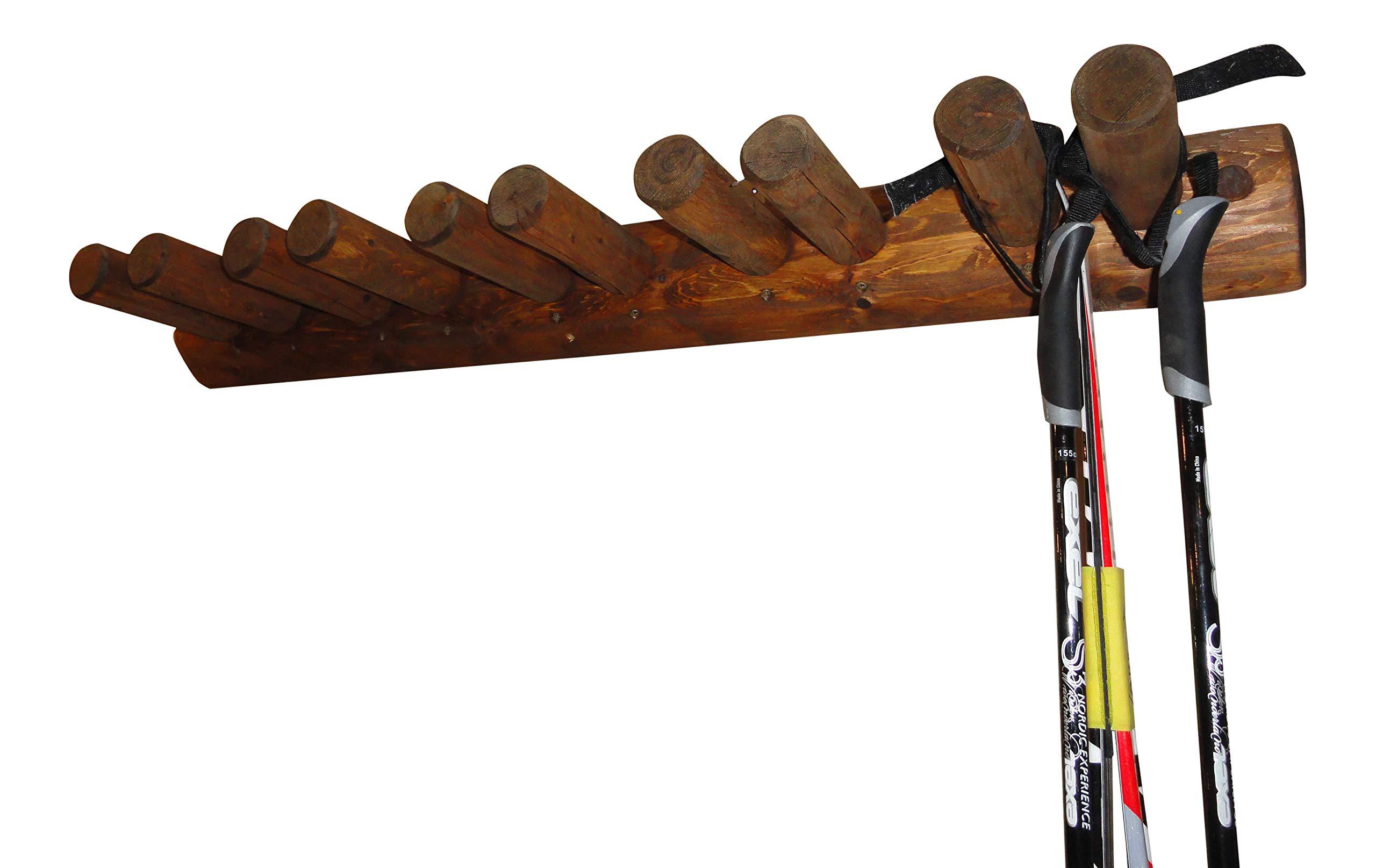 10 Place Wall Ski Rack