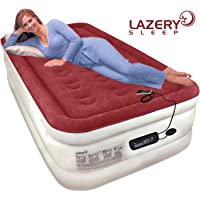 Lazery Sleep Air Mattress Airbed with Built-in Electric 7 Settings Remote LED Pump,