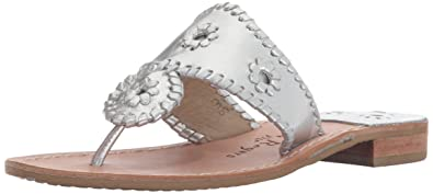 a613f1fe5025 Jack Rogers Women s Hamptons Wide Dress Sandal Silver 5 ...