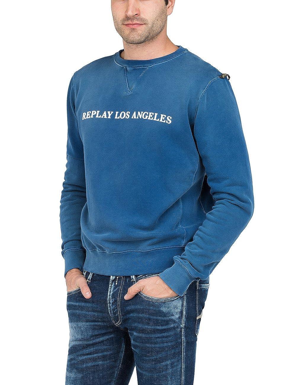 Replay Herren Sweatshirt LOS Angeles Verwaschung