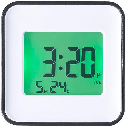 Infactory – Reloj Despertador Digital: LCD de Despertador, Dos alarmas, programación per iOS