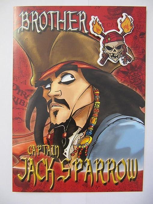 Brilliant piratas del Caribe Brother Tarjeta de felicitación ...
