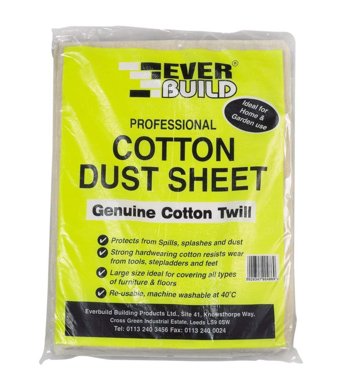 Everbuild Cotton Dust Sheet 12FT X 9FT EVBDUST