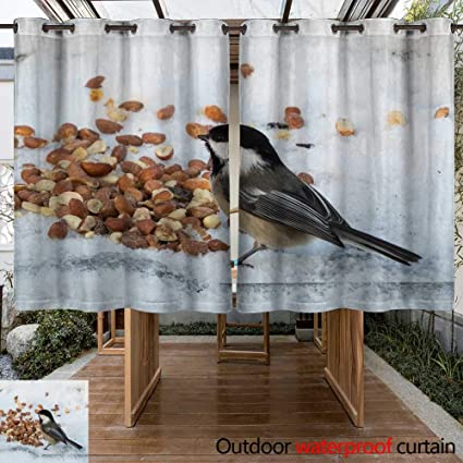 Amazon Com Winfreydecor Outdoor Curtain For Patio Mesange A Tete
