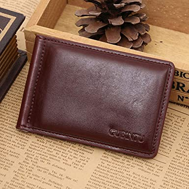 TOPUNDER Fashion Practical Leather Business Credit ID Card Holder Case Wallet