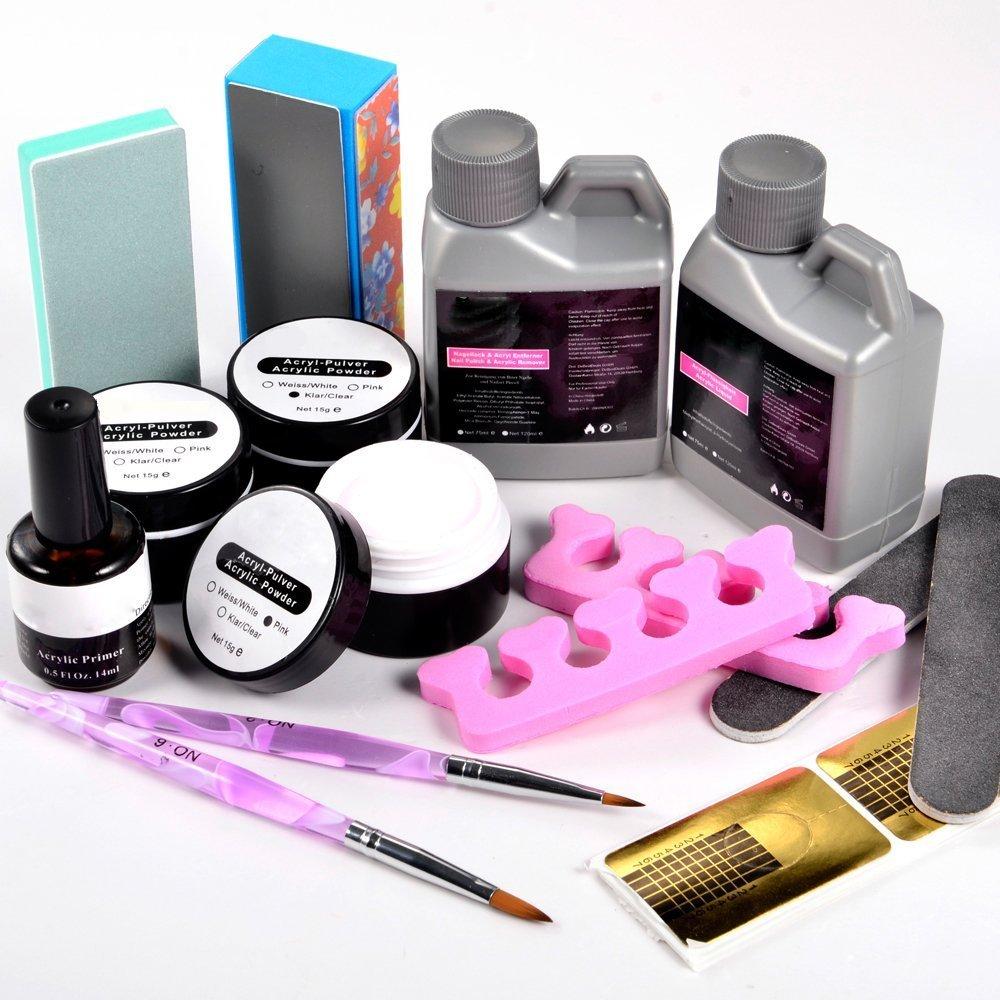 Amazon.com: Vip Beauty Shop Nail Art Crystal Acrylic Powder Liquid ...