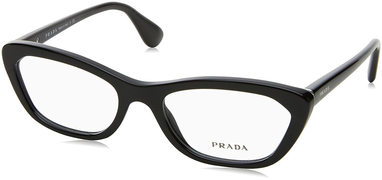 6190d6dc5a5b Amazon.com: Prada Eyeglasses VPR 03Q Black 1AB-1O1 PR03QV: Prada: Shoes