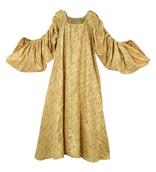 Medieval Renaissance Royal Gold Brocade Chemise by Museum Replicas