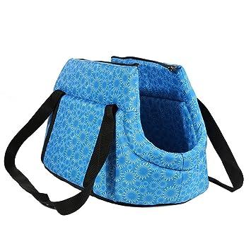 SODIAL(R) Bolsa de mano de hombro de transporte de viaje para pequenas mascotas pequeno gato pequeno perro acolchada y suave plegable y lavable, ...
