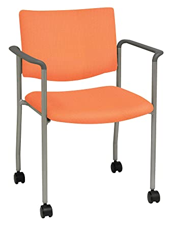 Amazon Com Evolve Series Side Guest Chair With Casters Arms