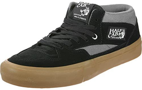 a6a1308cd86 Vans Half Cab Pro Black Pewter Gum Men s Classic Skate Shoes Size 7.5
