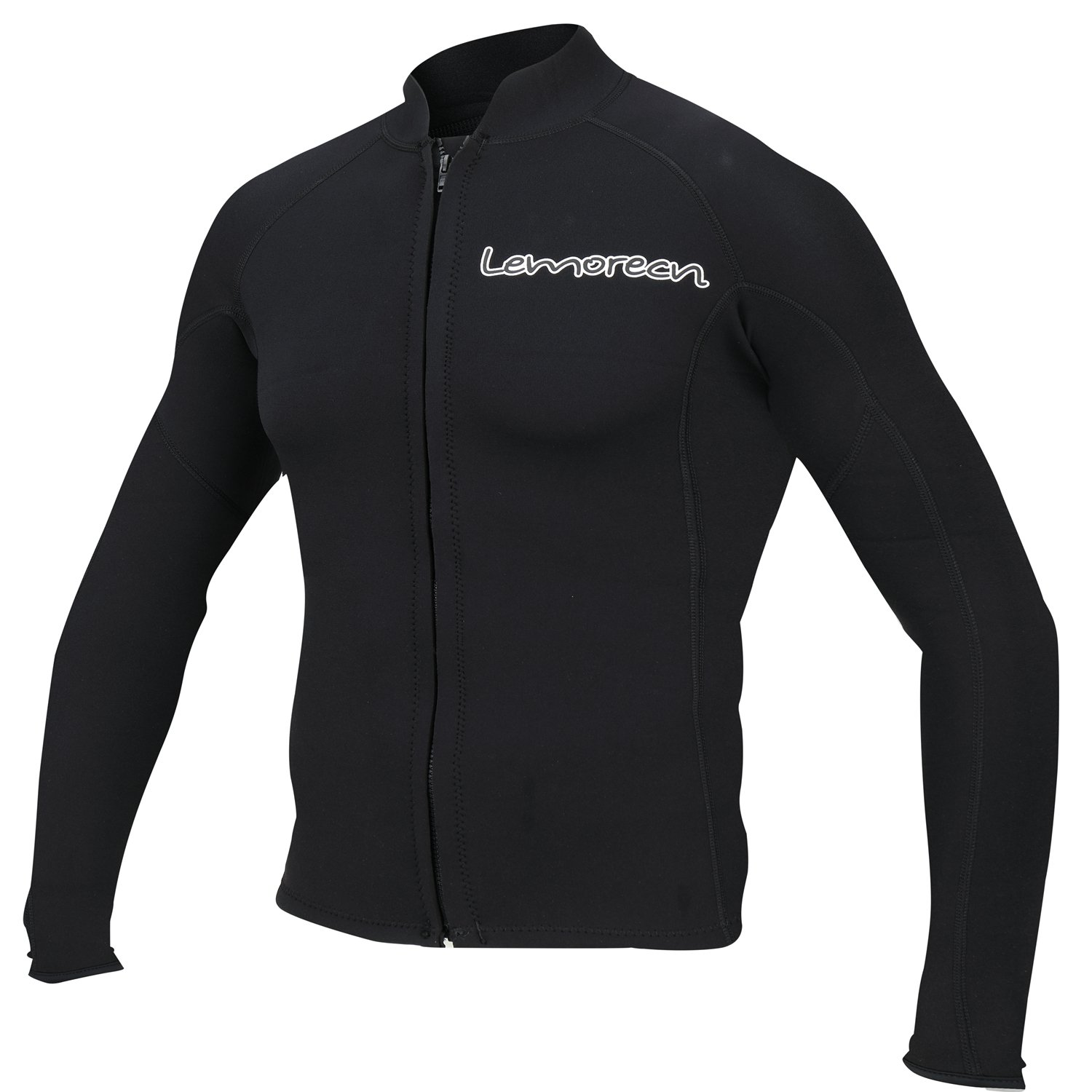 Lemorecn Men's 2mm Wetsuits Jacket Long Sleeve Neoprene Wetsuits Top(2021blackS) by Lemorecn