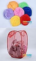 Foldable Pop Up Mesh Washing Laundry Basket Bag Bin Hamper Toy Tidy Storage