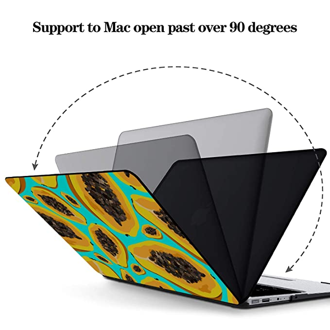 MacBook Air 13 Case Summmer Cute Fashion Fruit Papaya Plastic Hard Shell Compatible Mac Air 11 Pro 13 15 Macbookpro Case Protection for MacBook 2016-2019 Version