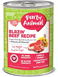 Party Animal Grain-Free and Gluten-Free Canned Dog Food 13 oz/12 case