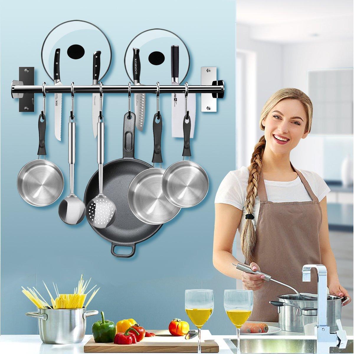 Amazon.com - EINFAGOOD Kitchen Pot Rack, Kitchen Hooks Rack 6 Hooks ...