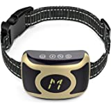 Bandyek Bark Collar NEWEST 2018 RECHARGEABLE Shock Collar for Small, Medium, Large Dogs - Smart Detection Chip - Dual Stop Anti-Barking Mode: Beep/Vibration, Shock