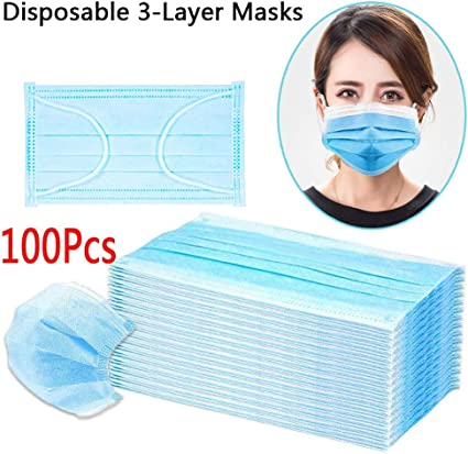 100 pcs disposable earloop face mask