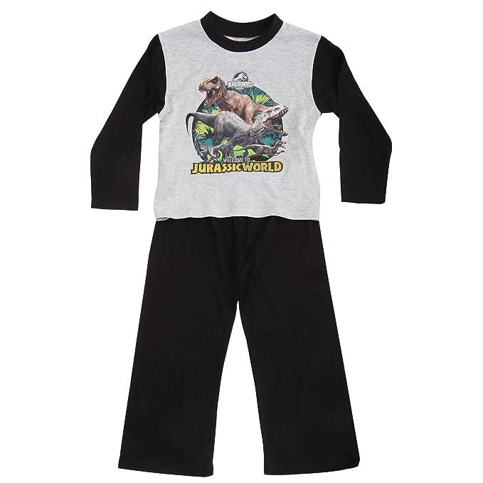 Jurassic World Pijama de Manga Larga y Pantalón Largo para Niños (7-8 Años