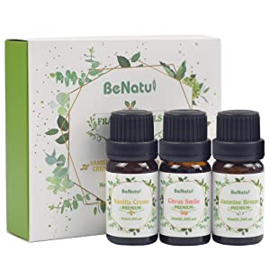 Fragrance Essential Oils (Vanilla, Citrus, Jasmine Scents) for Candle and Soap Making - Premium Grade Set for Diffuser, DIY Home Products, Bath - by Benatu
