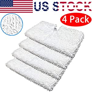 Eztronics Corp4 Pack Microfiber Steam Mop Replacement Pads, Machine Washable Cleaning Pads for Shark Steam Pocket Mops S3500 Series S3501 S3601 S3550 S3901 S3801 SE450 S3801CO S3601D-White