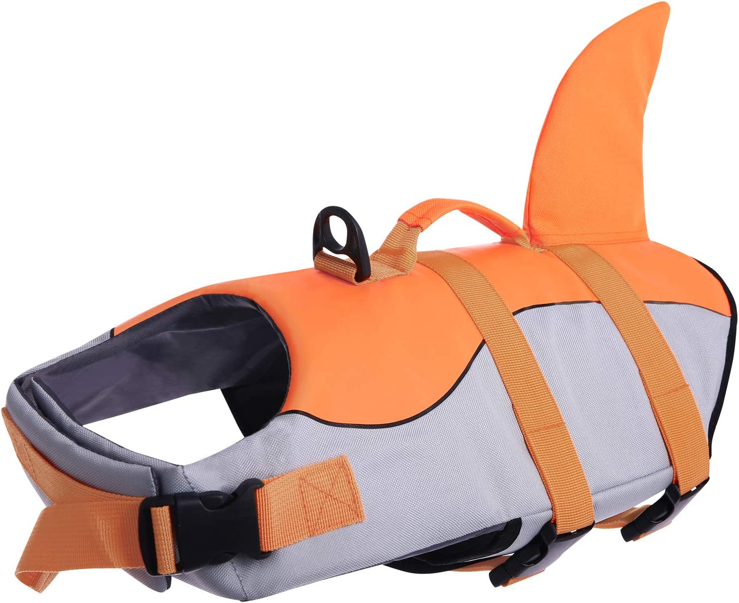 ASENKU Dog Life Jacket Ripstop Pet Floatation Vest Saver Swimsuit Preserver for Water Safety at The Pool Beach Boating