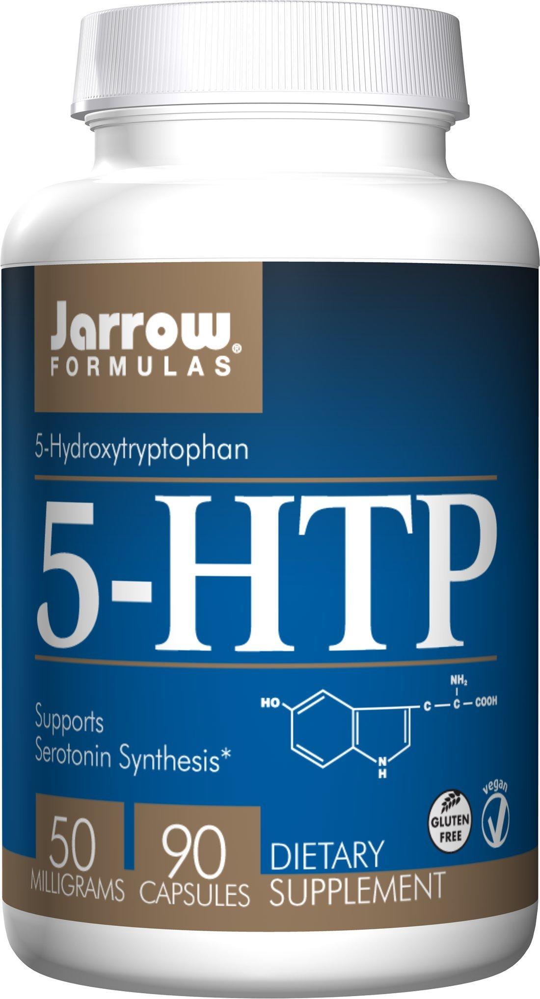 Jarrow Formulas 5-HTP 50mg, Brain and Memory Support, 90 Caps