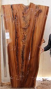 Live Edge DIY Desk English Elm Natural Raw Wood Slab Custom Rustic Tabletop Wooden Furniture Kitchen Island Unfinished 6327a8