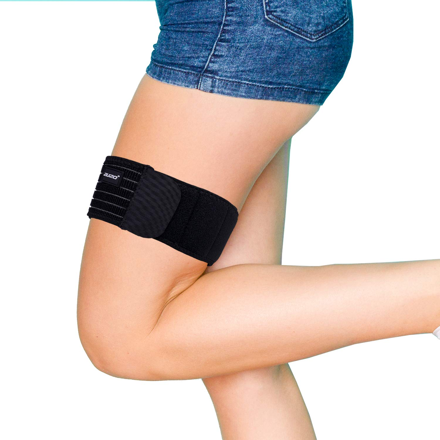 2U2O Thigh Brace-Adjustable Compression IT Band Upper Leg Wraps for Knee Pain, Hip, Thigh & ITB Syndrome Support -Athletic Stabilizer for Men, Women by 2U2O