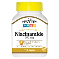 21st Century Niacinamide 500 mg Prolonged Release Tablets, 110-Count