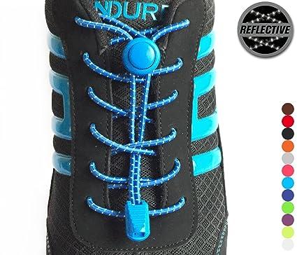 0c8e583a3d9 stoutgears no Tie agujetas de Zapatos Sistema de Bloqueo - Cordones  elásticos para Zapatos (Reflectantes