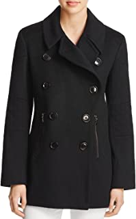 product image for Sofia Cashmere Motorcycle Peacoat - 100% Exclusive, 12, Black