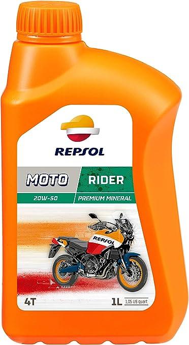 Repsol RP165Q51 Moto Rider 4T 20W-50 Aceite de Motor, 1 L: Amazon ...