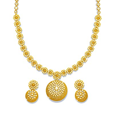earrings set pearls necklace with uncut jewellery diamond indian latest designs jewelry category