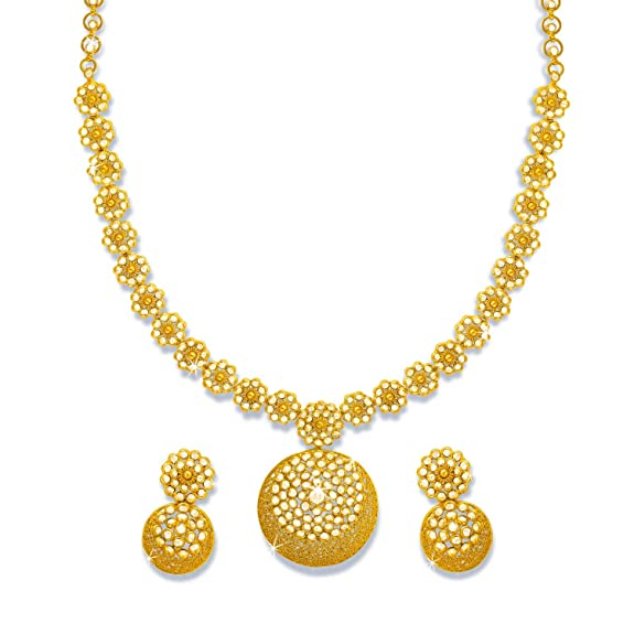 necklace collections palsanijewels dangle necklaces grande jewellery com beaten drop gold