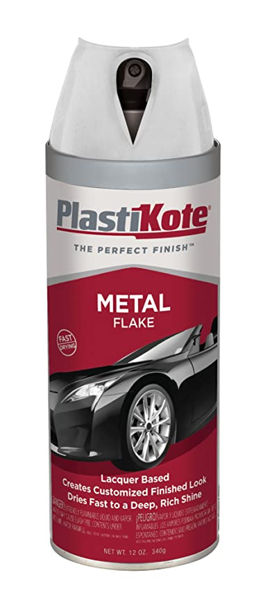 Plastikote 307 Clear Metal Flake Paint Spray 12 Oz