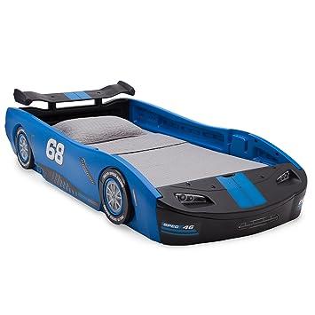 Delta Children Turbo Race Car Twin Bed Blue