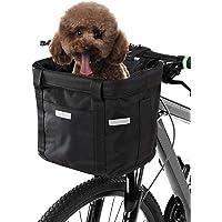 Cesta Dianteira Da Bicicleta,Baugger Cesta dianteira da bicicleta removível à prova d'água bicicleta guiador cesta pet…