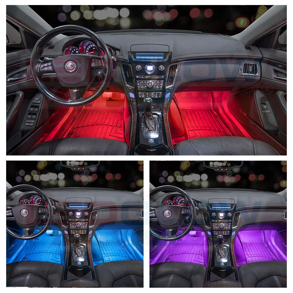 Mercedes Benz Seat Wiring Ledglow 4pc Multi Color Led Car Interior Underdash Lighting Kit Universal Fitment Music Mode Auto Illumination Bypass Automotive