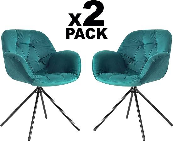 Adec - Belfast, Pack 2 sillas de Comedor, Cocina o Comedor, Silla ...