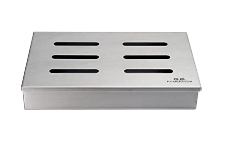 Bbq Grill Food Smoker Box Wood Chips Char-Broil 140 551 Cast Iron
