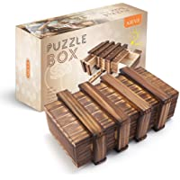 AIEVE Puzzle Box, Puzzle Box for Adults, Difficult Magic Box Wooden Puzzle Box for Kids Brain Teaser Box Game Money Gift…