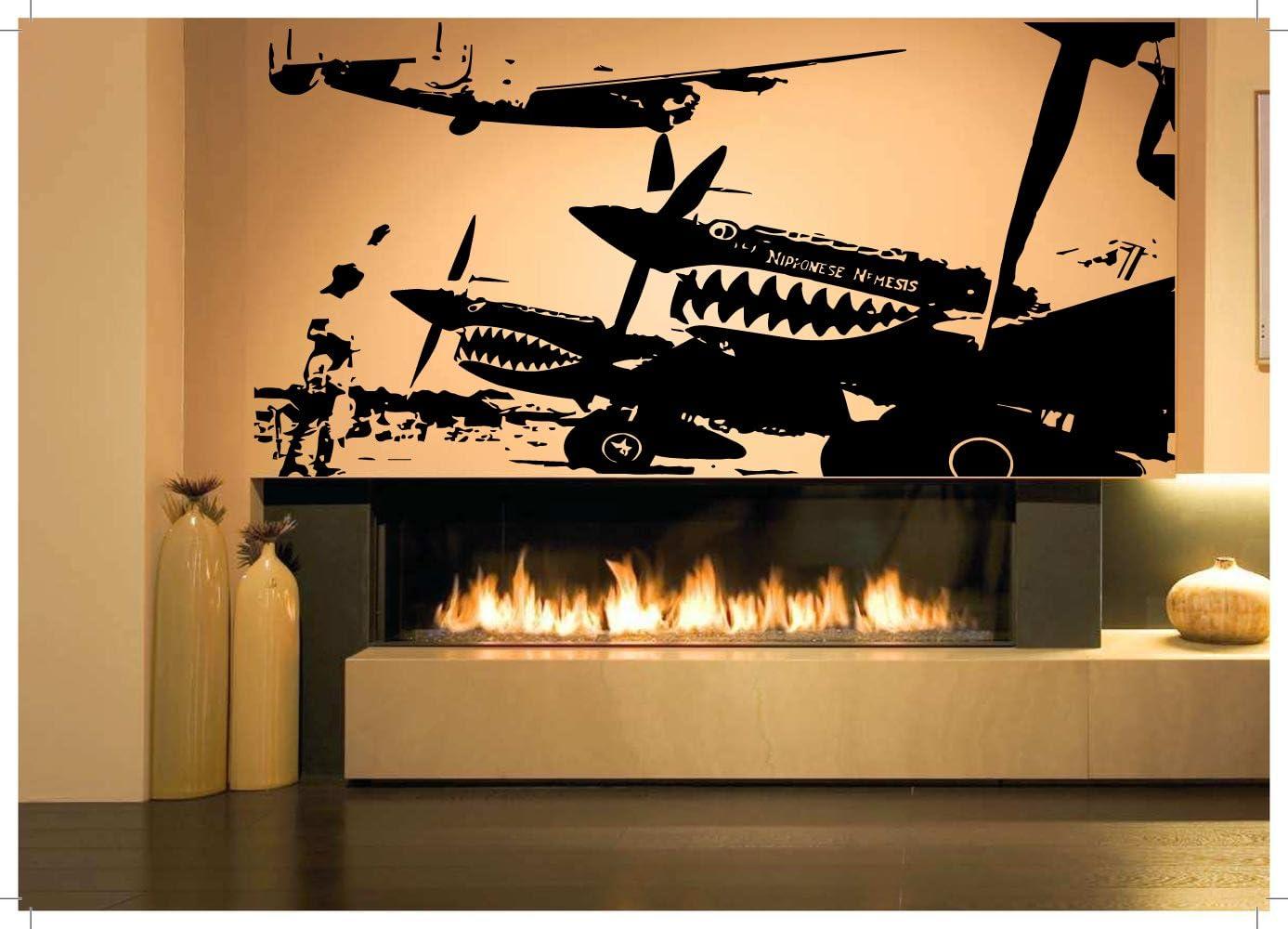 Wall Room Decor Art Vinyl Sticker Mural Decal Ww2 Plane Jet Aircraft War AS1417