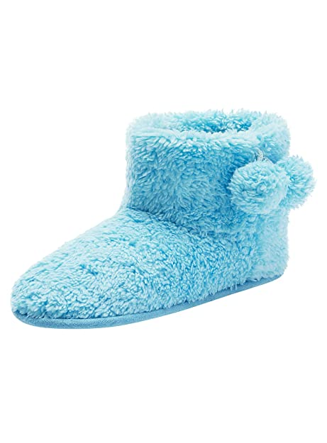 buy popular e8488 fa454 oodji Ultra Donna Pantofole Alte con Pompon