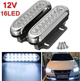 Transport-Accessories - 2Pcs 16 LED Car Daytime Running Light DRL Daylight Lamp with Turn Lights Day Time Running Driving Lights Fog Lamps