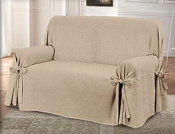 HomeLife – sillón/Sofá de Dos o Tres Puestos – Funda Elegante Color Liso –