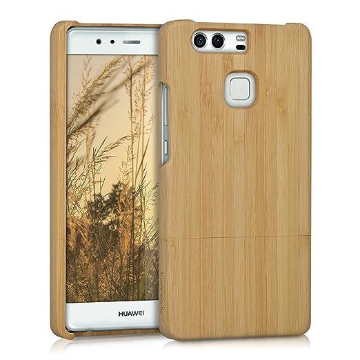 3 opinioni per kwmobile Custodia in legno per Huawei P9 Cover legno naturale bambù- Case rigida