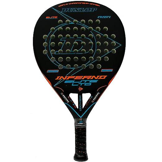 Pala de pádel Dunlop Inferno Elite LTD Orange - Blue