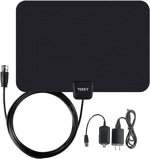 tekey 50 Mile Digital HD amplificador de antena con cable coaxial de 10 m 30 días