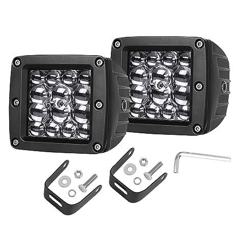 4e134219bf Swatow Industries LED Cube Lights 2PCS 84W Osram Quad Row 3 Inch LED Pod  Lights Off